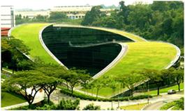 Cubierta extensiva en la Universidad Tecnológica de Nanyang. Singapur.