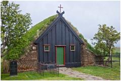 Iglesia de Vidimyri, Islandia. Construída en 1834.