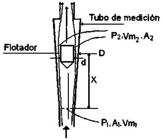 Figura 6: Sección de un rotámetro
