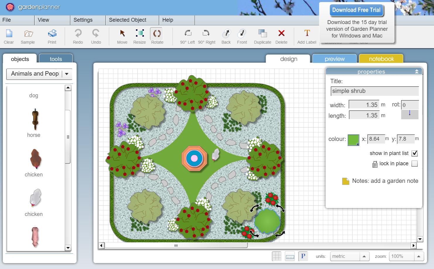 Software Gratuito De Diseño De Jardines Formación De