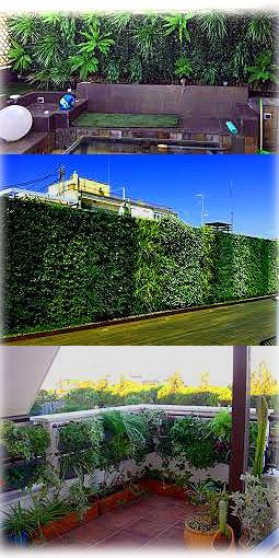 Jardines verticales en terrazas