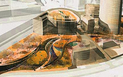 Obra de la diseñadora de jardines en la Campa de los Ingleses