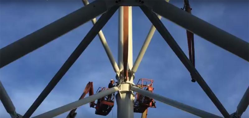 La torre eólica más alta de España