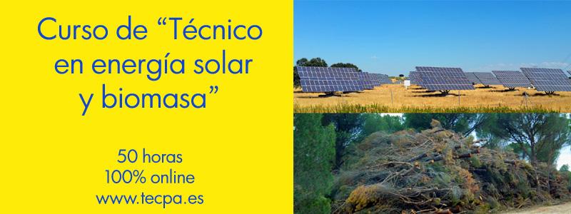 Curso de tecnico en energia solar y biomasa