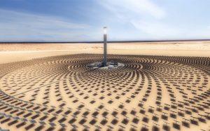 Heliostatos con receptor central en torre
