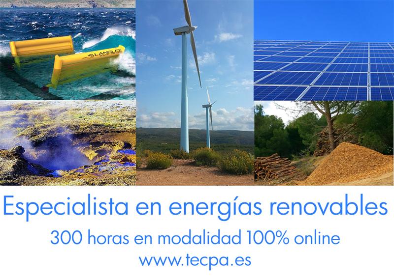 Curso de energías renovables. 300 horas online