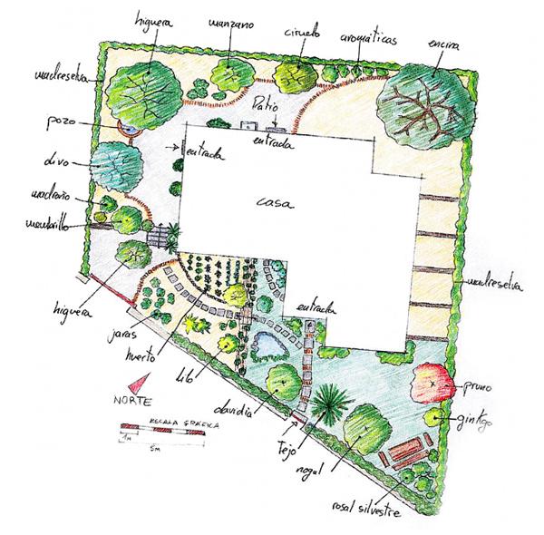 jardín seco construcción