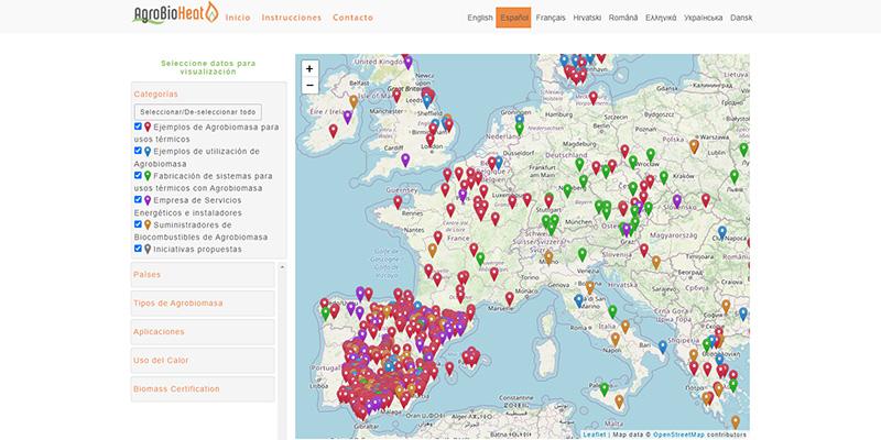 La producción de biomasa en España